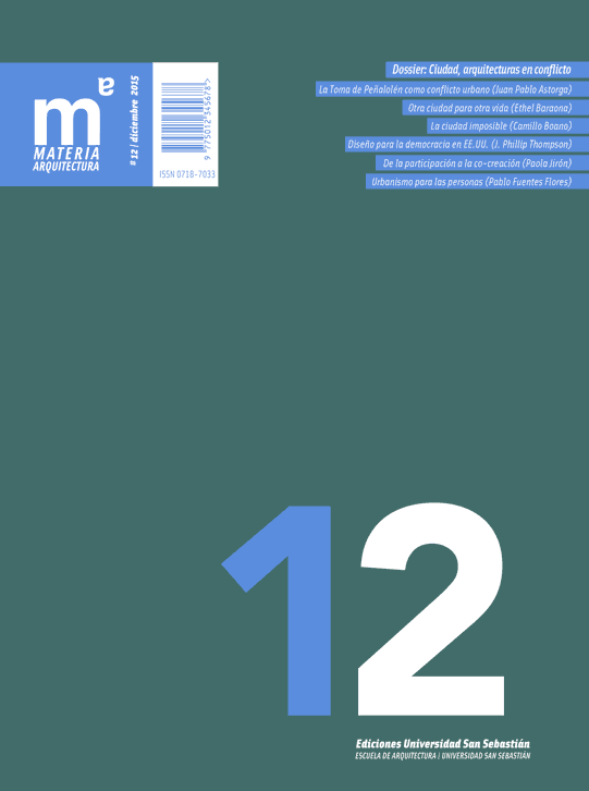 Portada Materia arquitectura número 12
