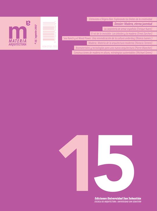 Portada revista número 15 Materia Arquitectura USS